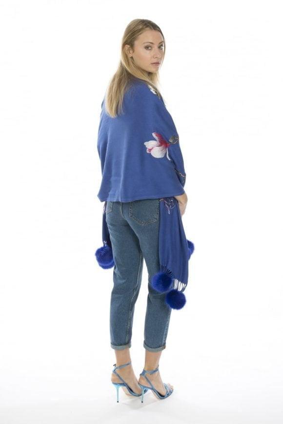 Jayley Royal Blue Wrap Style Back Side View