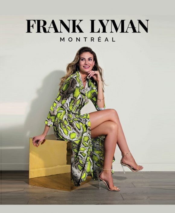 Frank Lyman Yellow/Taupe Dress Style View 02